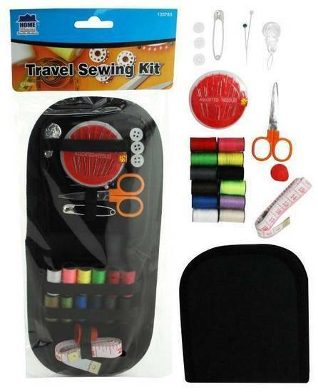 Portable Sewing Kit Travel Thread Needles Pins Measure Tape