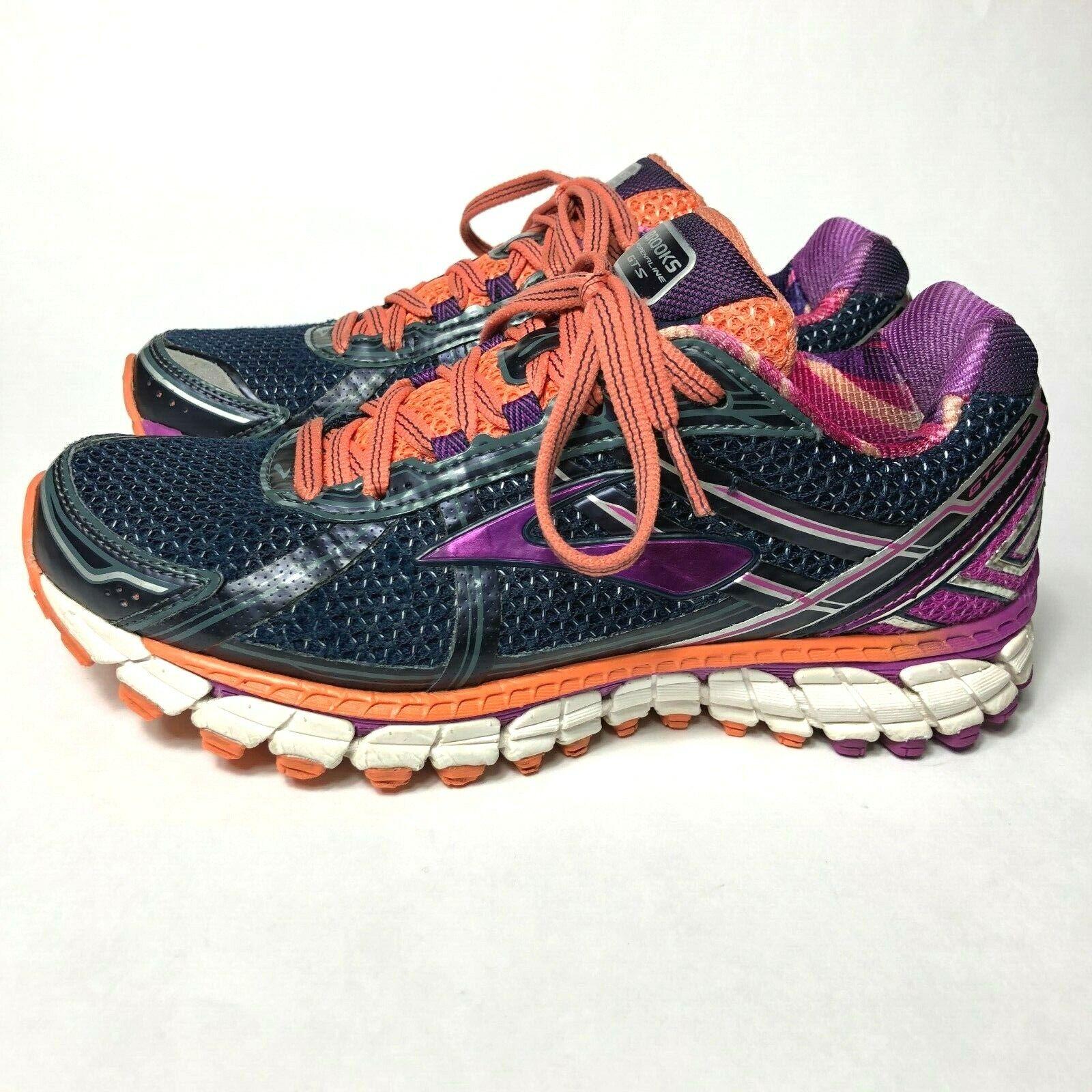 Brooks Adrenaline Gts 15 femmes Taille 7 Sport chaussures De Course violet Orange
