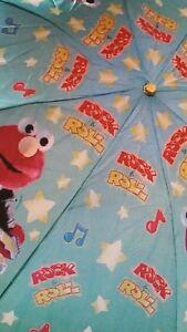 Vintage-Sesame-Street-Rock-039-n-Roll-Elmo-Umbrella-NIP