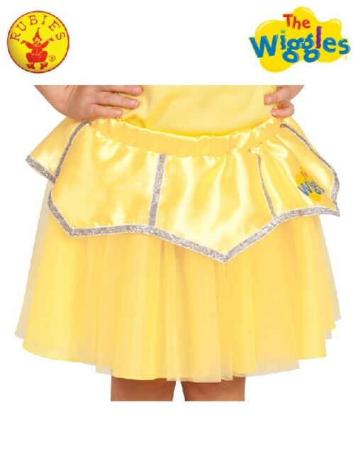 THE WIGGLES-YELLOW EMMA WIGGLE Ballet Costume Tutu Skirt Size1-3Toddler LICENSED