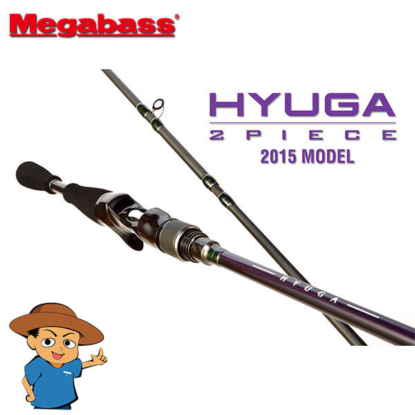 Megabass HYUGA 68-2M Medium 6'8  bass fishing baitcasting rod pole from Japan
