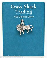 African Lion 3d Solid Sterling Silver Pendant Charm W/ Options 1823