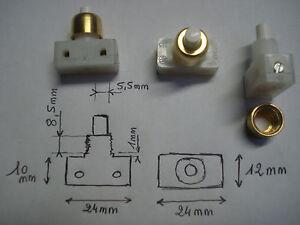 1 interrupteur poussoir crou en laiton bornes vis lampe de chevet ebay. Black Bedroom Furniture Sets. Home Design Ideas