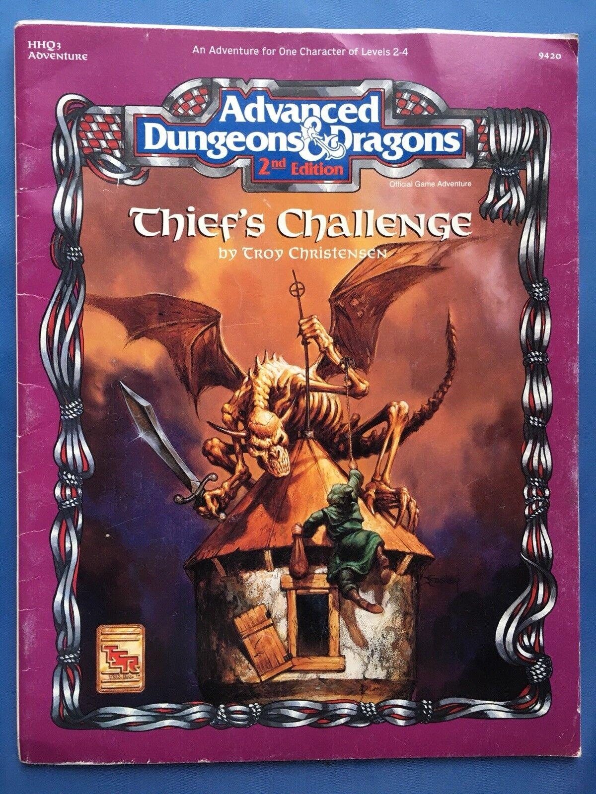 Thief's Challenge - Advanced Dungeons & Dragons 2nd Edition AD&D 2E TSR 9420