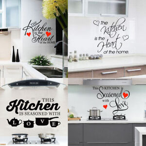 Details About Kitchen Vinyl Wall Decal Home Removable Sticker Room Mural Art Restaurant Decor