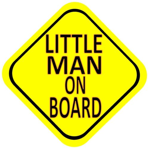 great xmas gift Little Man on Board Car Baby Window Sign yellow