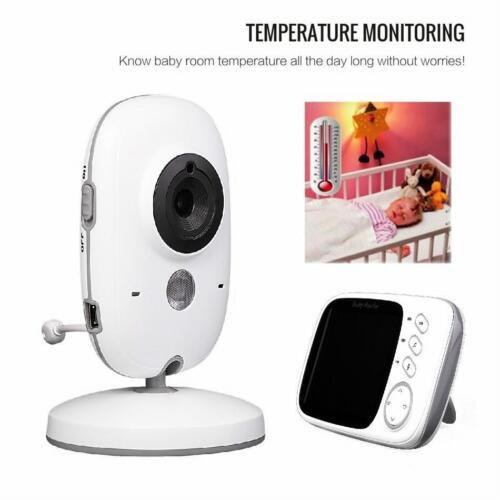 Moniteur Bébé Écran LCD 2 Way Talk 8 berceuses température Night visions périphériques