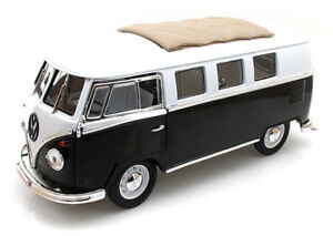 1962 Volkswagen Microbus Black with Sliding Fabric Sunroof Limited to 600 pieces
