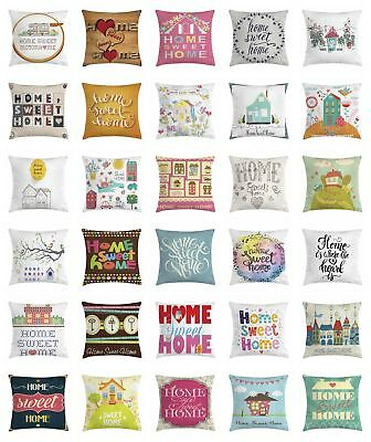 Home Sweet Home Throw Pillow Cases Cushion Covers Home Decor 8 Sizes Ebay