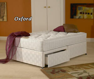5ft Kingsize Oxford Orthopaedic Zip And Link Divan Bed