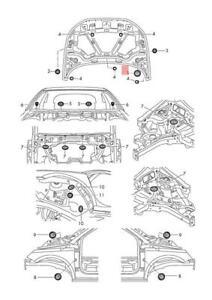 Genuine VW AUDI SKODA SEAT Amarok Arteon Bungs Lower 10pcs 1K0899185