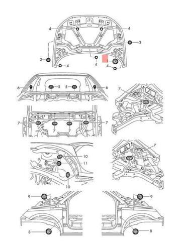 Genuine Bungs Lower X10 VW AUDI SKODA SEAT Amarok Ameo Arteon Beetle 1K0899185