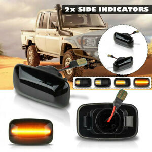 Dynamic LED Side Repeater Indicator Light For Toyota Land Cruiser 70 80