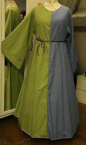 Mittelalter Kleid Gewand LARP Gr 46 48 50  Gothic XXL blau grün