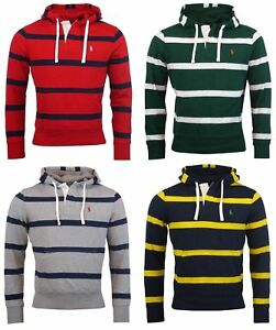 Ralph Hoodie Men's Hooded Fleece About Striped Details Polo Sweatshirt Lauren Ygbf76y