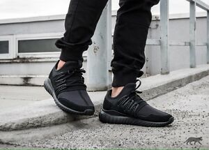 uk availability 5672c a73e8 Details about Adidas Tubular Radial S80115 Men's Running Shoes BLACK/BLACK  Size 11US