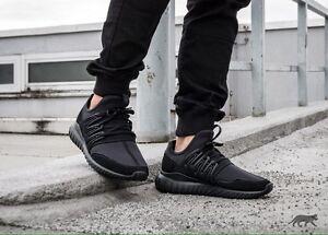 07563e97834 Adidas Tubular Radial S80115 Men s Running Shoes BLACK BLACK Size ...