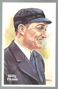 136-BILLY-EVANS-Perez-Steele-Hall-of-Fame-Postcard