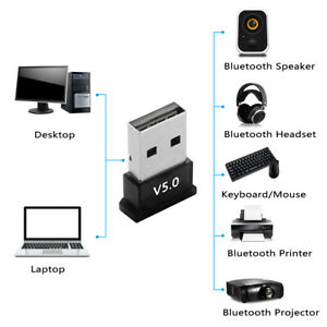 USB-bluetooth-5-0-Adapter-Transmitter-Wireless-Audio-for-PC-Win-10-8-7-XP-NEW
