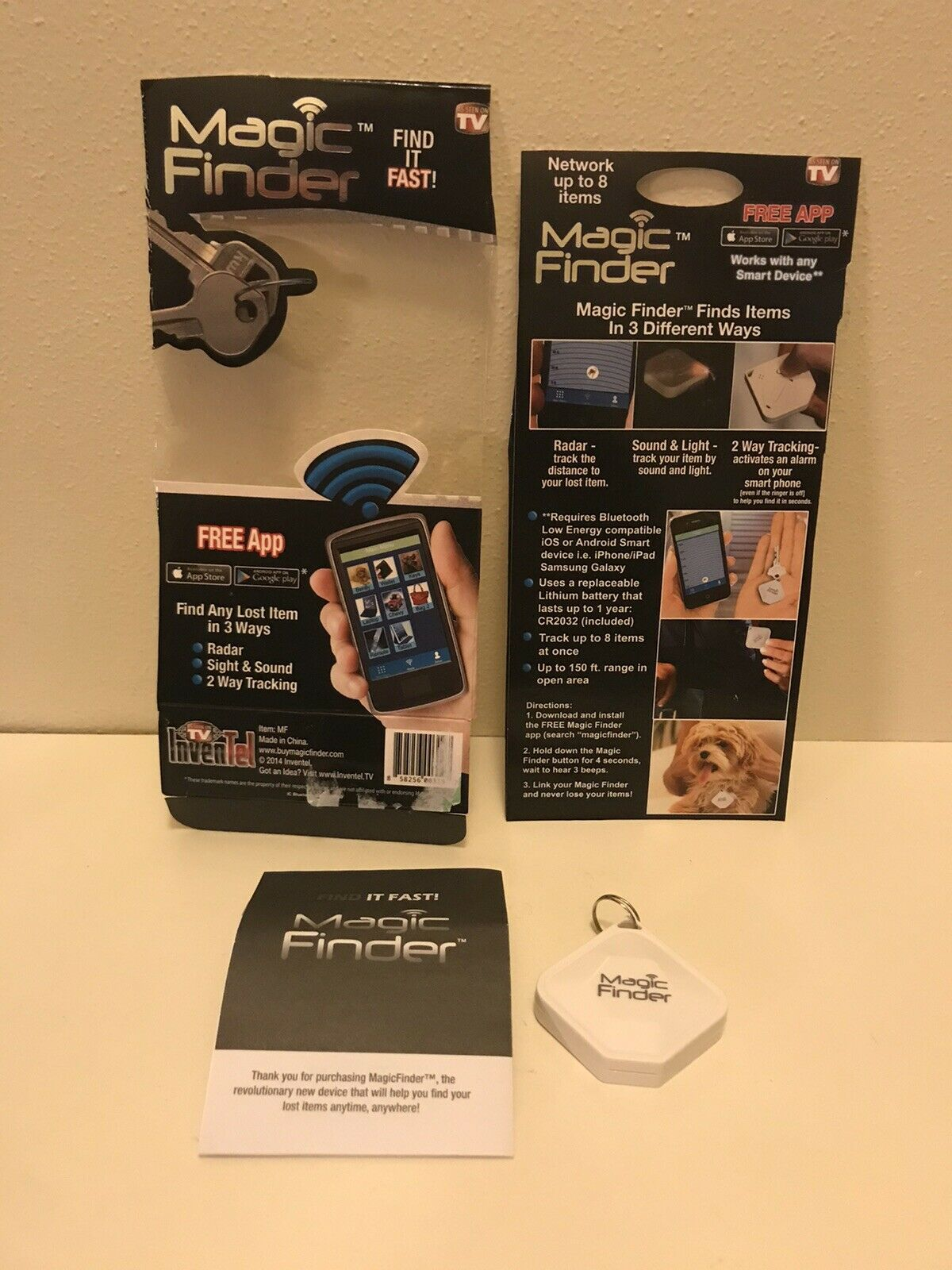 Magic Finder Find It Fast Bluetooth Tracking Device As Seen On Tv For Sale Online Ebay