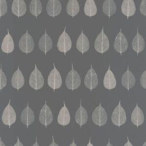 Rasch Textil Tapete 128849 Feuillage Feuille Gris Foncé Blanc Papier ...