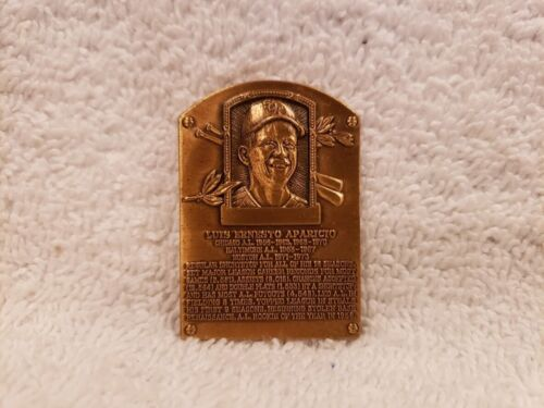 Chicago White Sox!! RARE 1985 National Baseball HOF Luis Aparicio Bronze Plaque