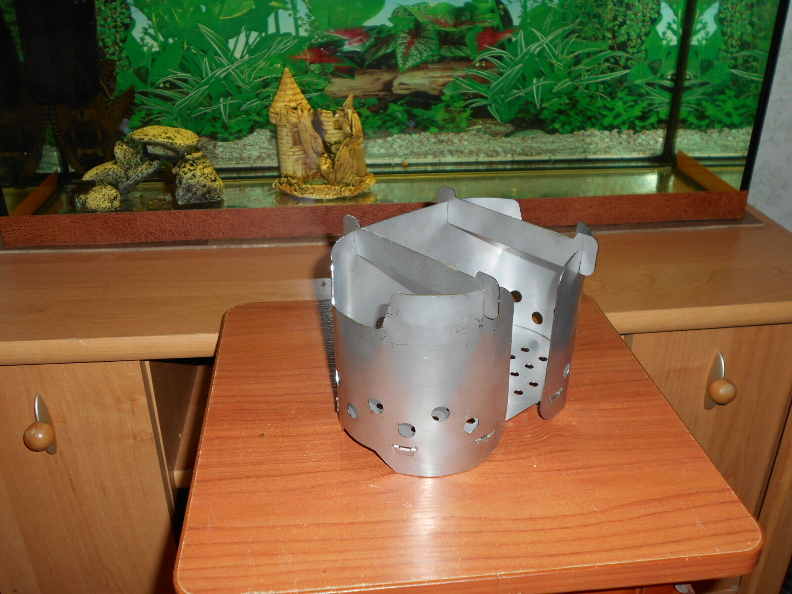 Portable Wood Stove for army pot - Stainless steel