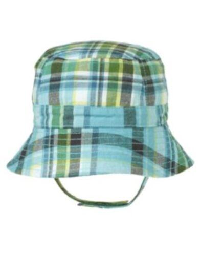 GYMBOREE ANTEATER PAL BLUE PLAID BUCKET HAT 0 3 6 12 18 24 NWT
