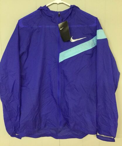 Nike Mens Impossibly Light Running Jacket 833545 452 Paramount Blue Size S M