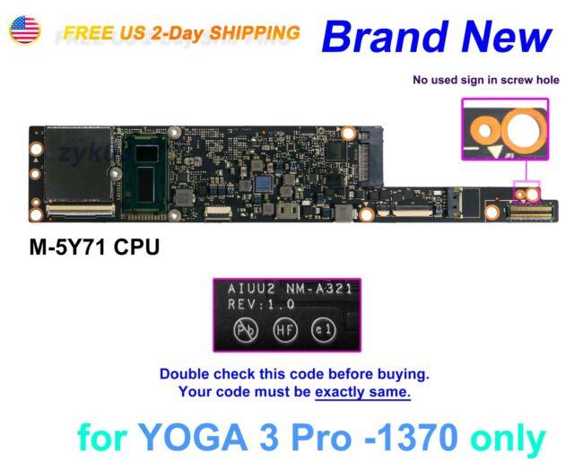 Lenovo YOGA 3 Pro 1370 CPU Intel M-5Y71 4GB AIUU2 NM-A321 NS-A321 Motherboard