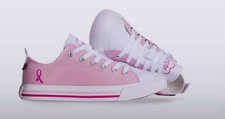 NIB - Women's SKICKS 'BREAST CANCER AWARENESS' Pink CANVAS SHOES - 7
