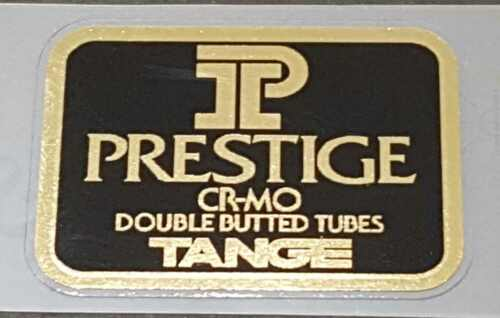 Mirror Gold on Black sku Tang835 Tange Prestige Road Bike Tubing Decal