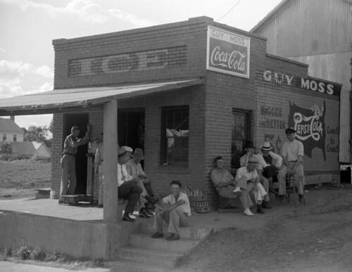 "GA Vintage Photograph 8.5/"" x 11/"" Reprint Greene County 1939 Men Hanging Out"