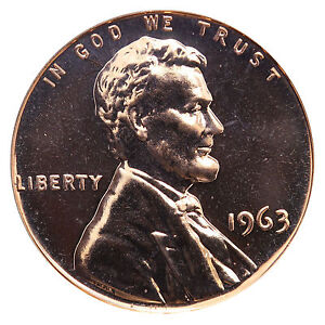 1963-Lincoln-Memorial-Cent-Penny-Gem-Proof-Mint-Coin-No-Mint-Mark-Uncirculated