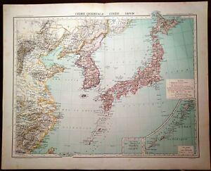 Cartina Geografica Antica.Carta Geografica Antica Cina China Corea Giappone Japan 1891 Old Antique Map Ebay