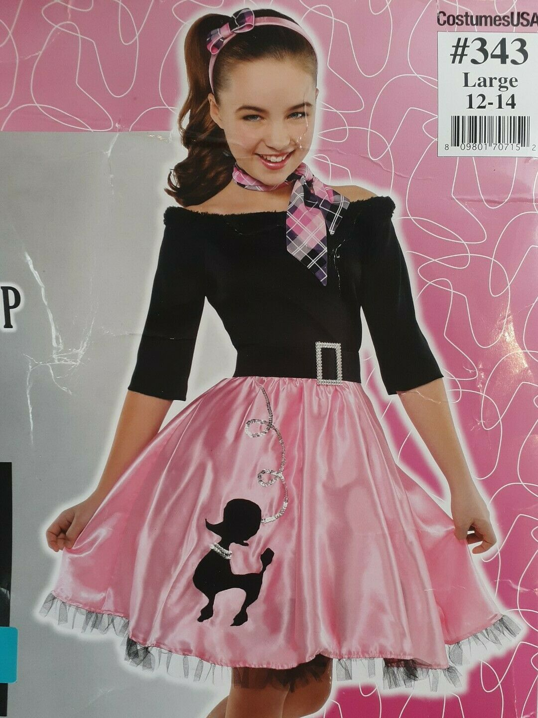 Includes Accessories Amscan Miss Sock Hop Halloween Costume for Girls
