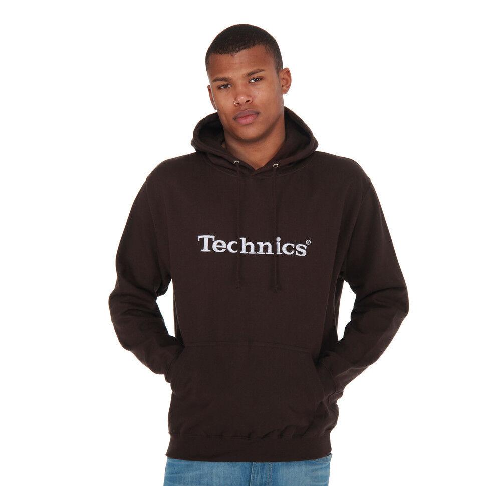 Technics - Logo Hoodie Braun Kapuzenpullover Hooded Sweater