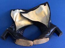 Women's Italian leather boots (Via Spiga), black w-white leather interior, 8.5M