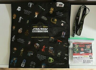 Star Wars Celebration 2019 Chicago Exclusive Tote Bag Lanyard /& Ziploc Bags
