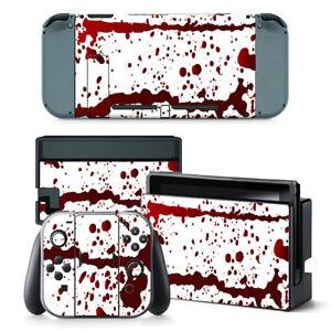 Details About Nintendo Switch Skin Design Foils Sticker Screen Protector Set Blood Motif