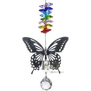 Handmade Butterfly Suncatcher Crystal Ball Prisms Rainbow Maker Hanging OrnIJUS