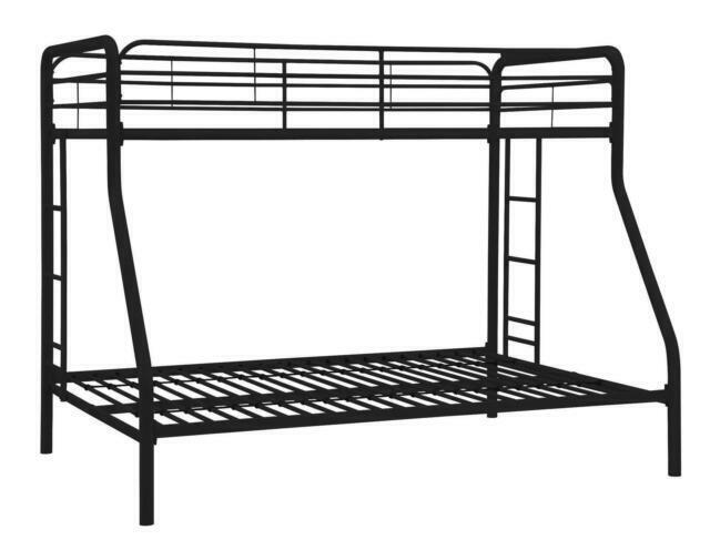 Dhp Twin Over Full Bunk Bed With Metal Frame And Ladder Black For Sale Online Ebay