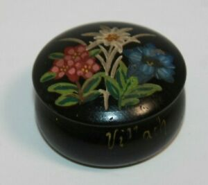 Painted and engraved wood trinket bowl