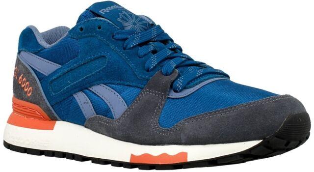 1cbec17d0e3d0 Reebok GL 6000 WW Blue Grey Suede Womens Retro Casual Shoes SNEAKERS ...