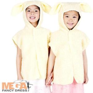 Mignon Agneau Tabard Kids Fancy Dress Farm Animal Garçons Filles Livre Jour Costume Outfit-afficher Le Titre D'origine