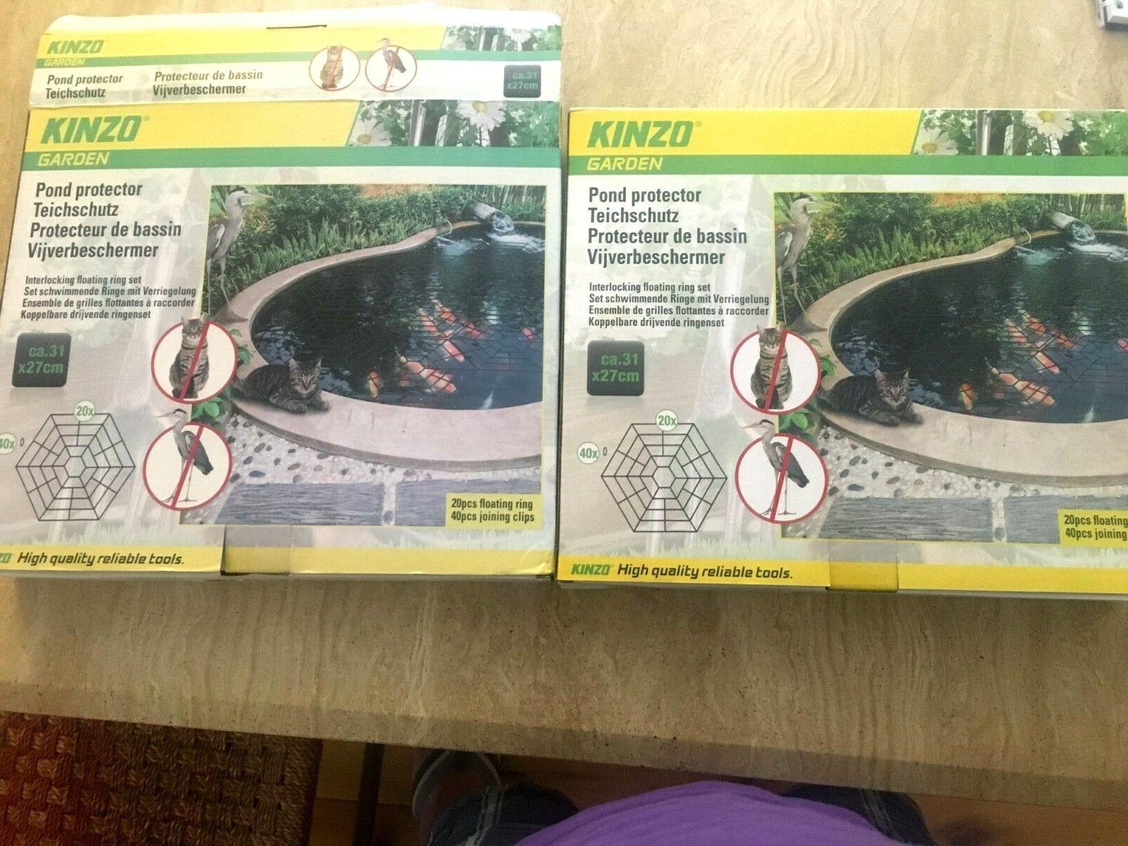 kinzo fish pond heron and cat protector 2 box 1 free
