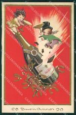 Busi Toasting Children New Year CORNER CREASE Degami serie 3104 postcard QT6721