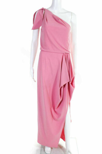 HALSTON HERITAGE - Vintage Light Pink One Shoulder