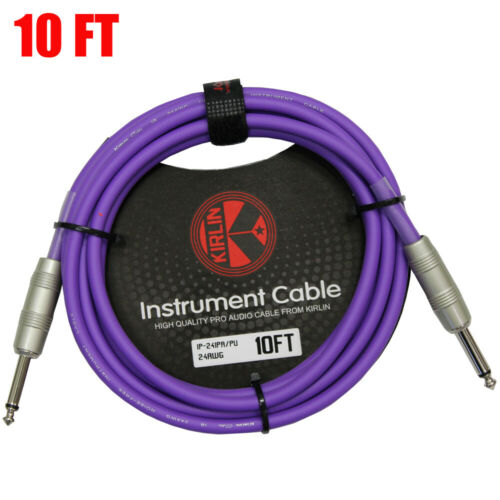 Kirlin 10FT Cable Straight Ends 24AWG Patch Cord Guitar Cable PURPLE Cable Tie