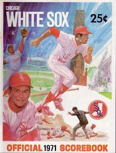 1971-May-7-Baseball-program-New-York-Yankees-Chicago-White-Sox-unscored-VG